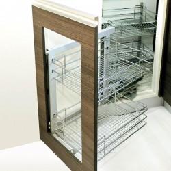 Кошница за глух шкаф с плавно прибиране