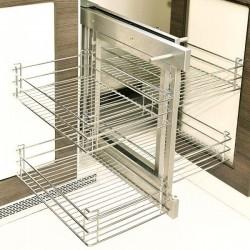 Кошница за глух шкаф с плавно прибиране - за шкаф 450 мм